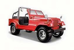 Jeep Wrangler, Red - Bburago 22033 - 1/24 Scale Diecast Mode