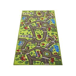 "Kids Carpet Extra Large 80"" x 40"" Playmat City Life - Learn"