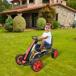 Kids Pedal 4 Wheels Go kart Powered Cars Outdoor Toy Bike fo
