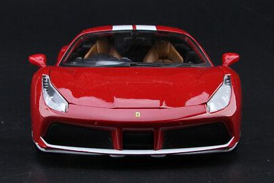Bburago Diecast Car Model Red Ferrari 488 70th Ver.