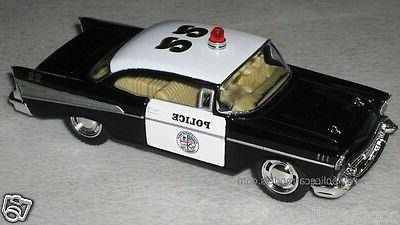 Kinsmart 1/40 1957 Chevy Bel Air Police Car - Great For O Sc