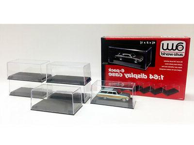 1 64 6 display cases for 1