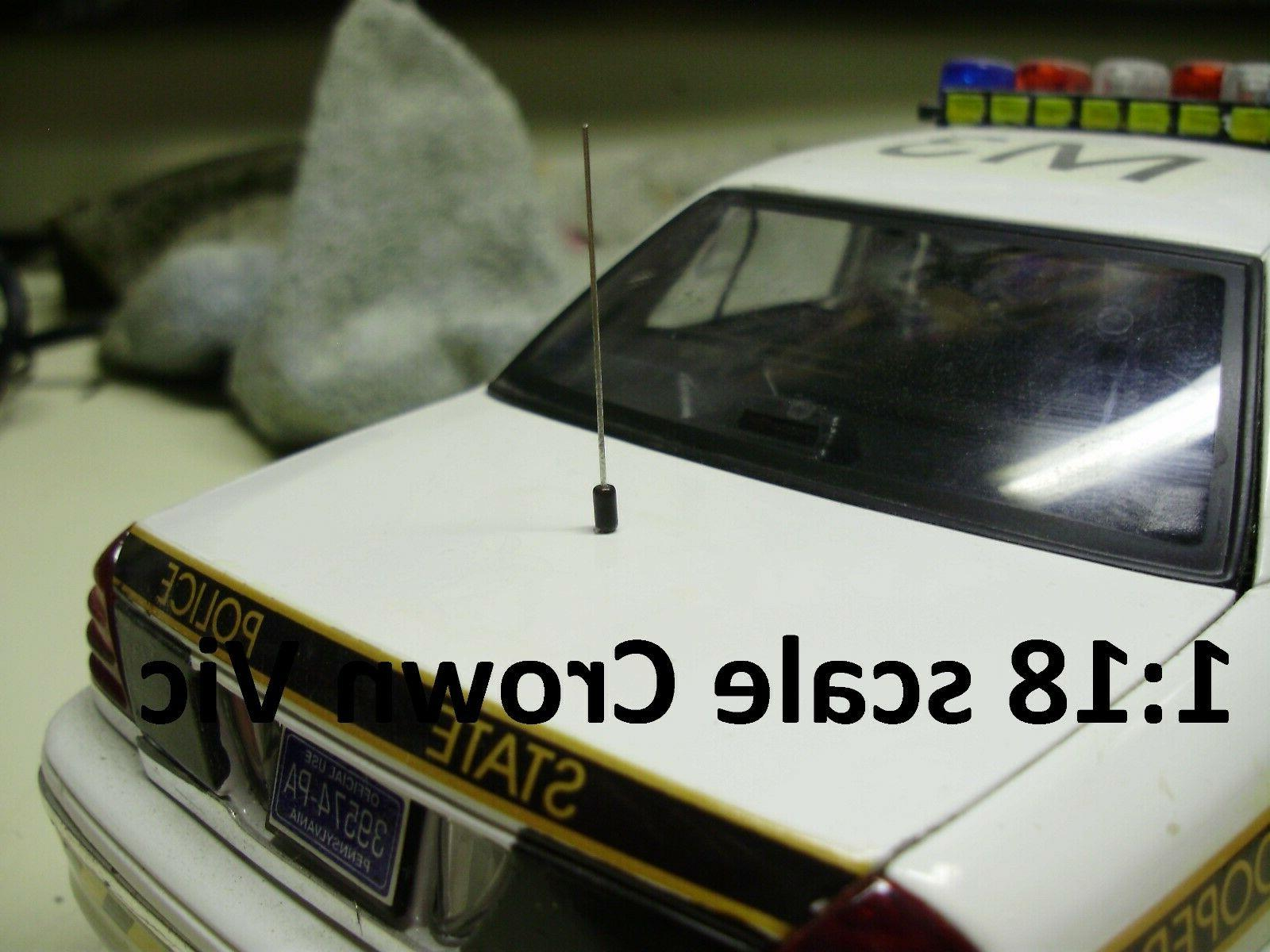 20 Antennas for Custom Police 32 cars Welly Motormax