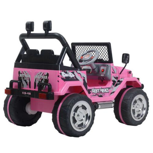 12V Car Control Battery Powered Pink