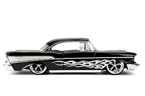 1957 Bel Air Black Diecast Model Car by Jada 99965