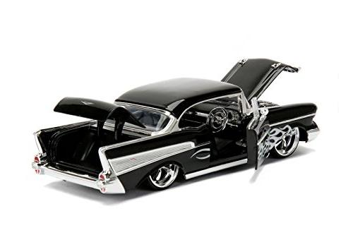 1957 Chevrolet Black with Diecast Model Jada