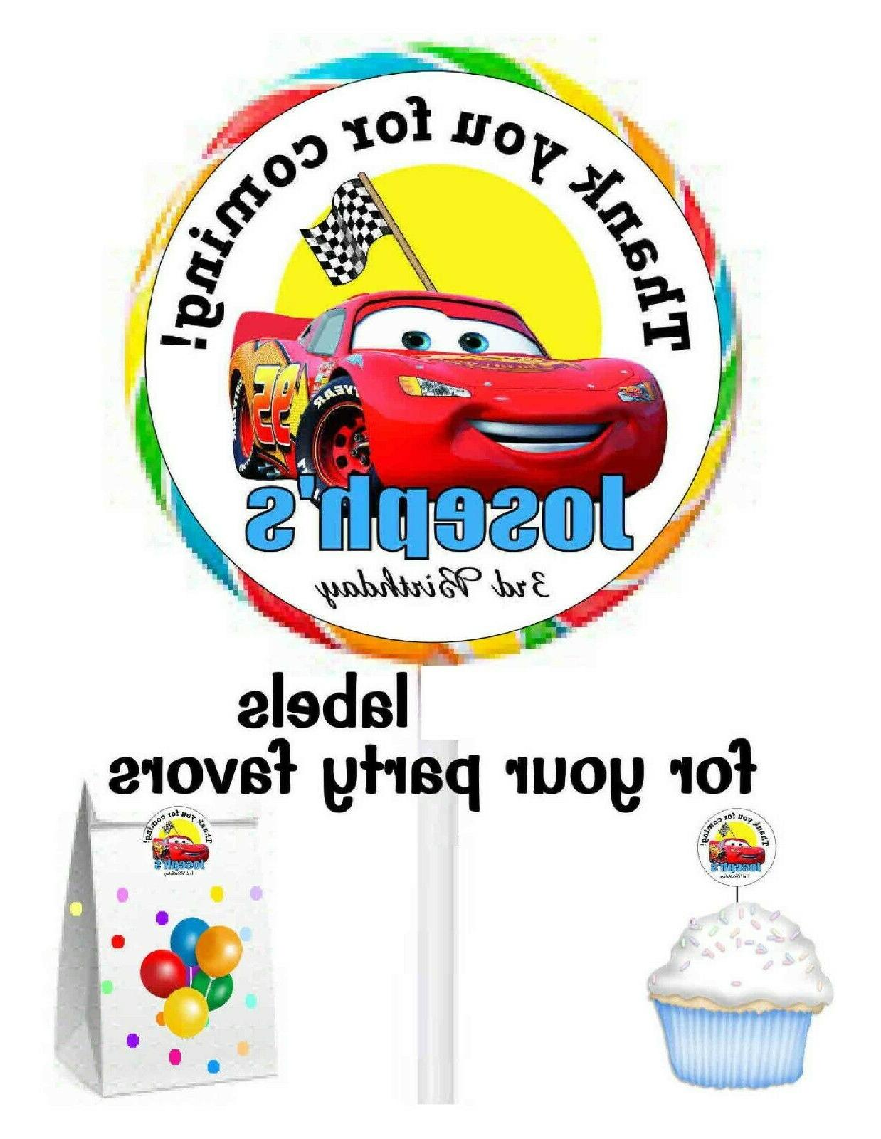 20 disney cars birthday party favors stickers