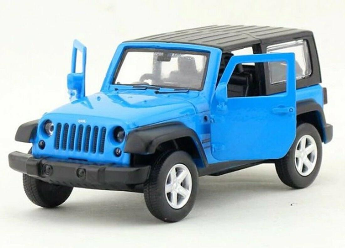 CAIPO Jeep Wrangler Diecast Car Blue Collection
