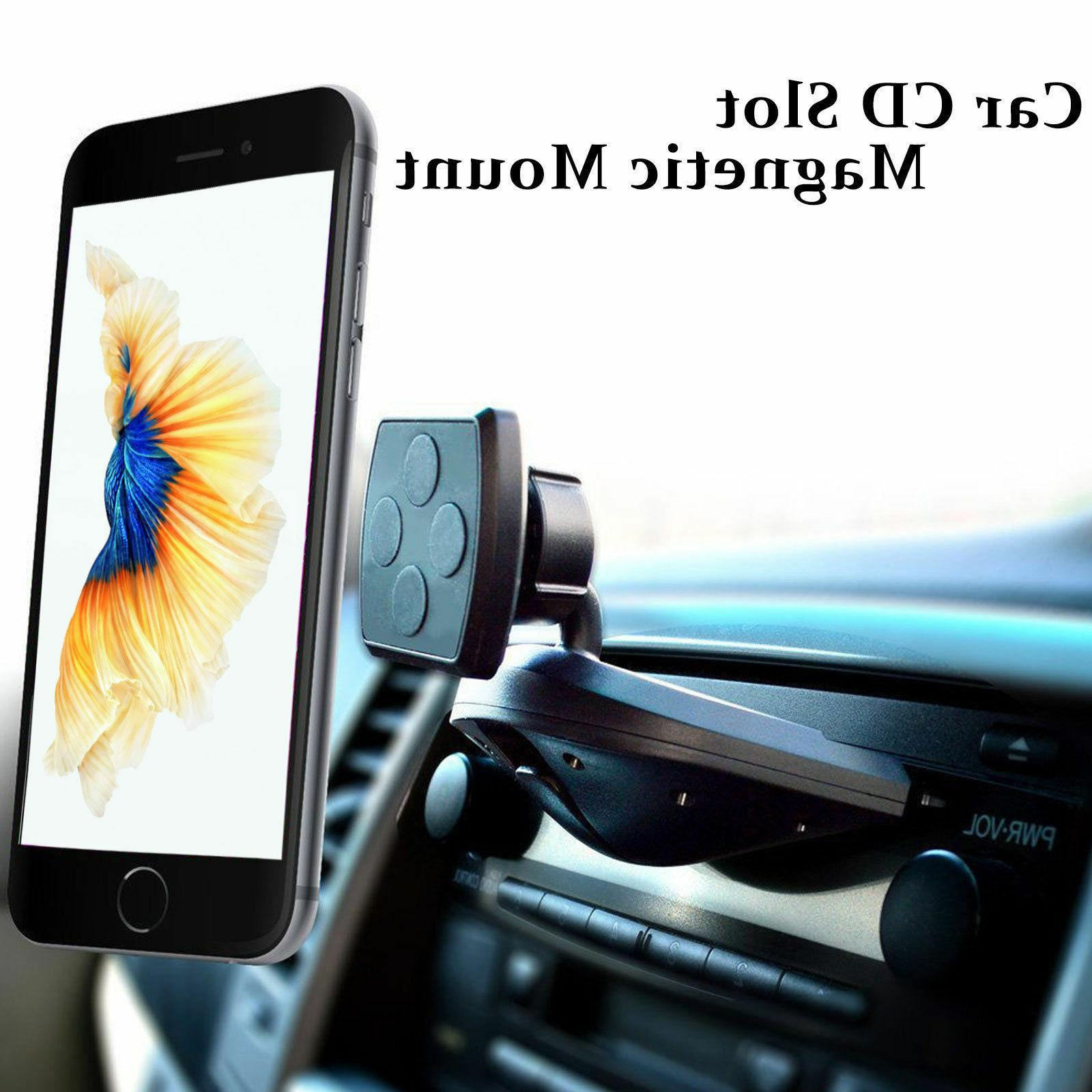 2017 Magnetic Car CD Slot Mount Cradle Holder Stand for iPho