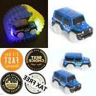 2PCS Race Cars For Track Glow In the Dark Light Up LED Set T