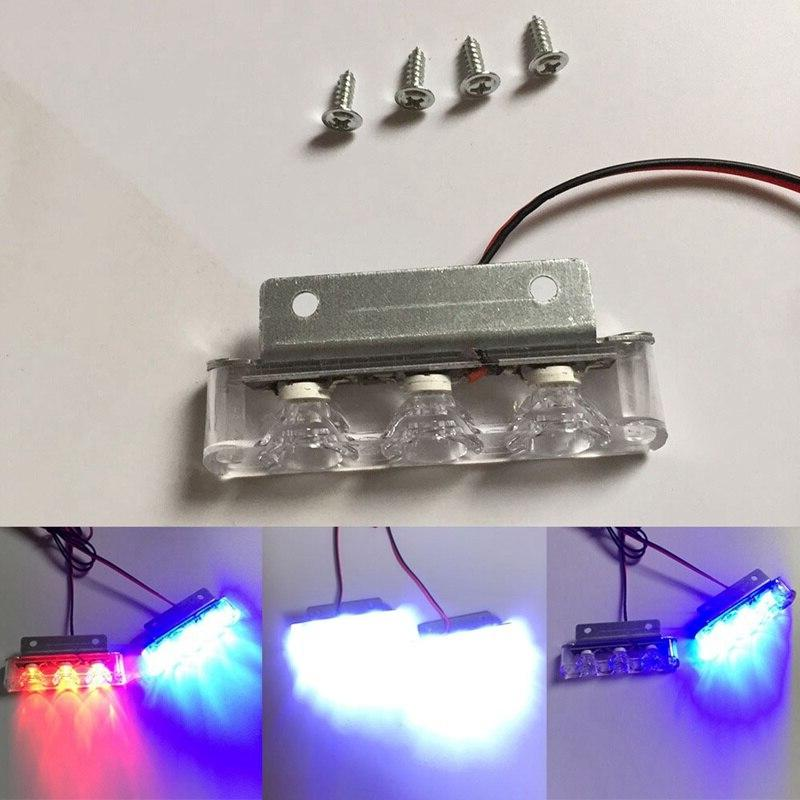 2Pcs/Set 3 LED Light Warning Led DC Truck Motorcycle Rear Stop Led