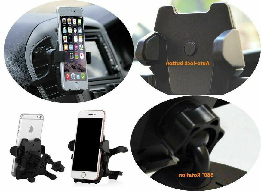 360° Car Stand Air Vent For iPhone Mobile