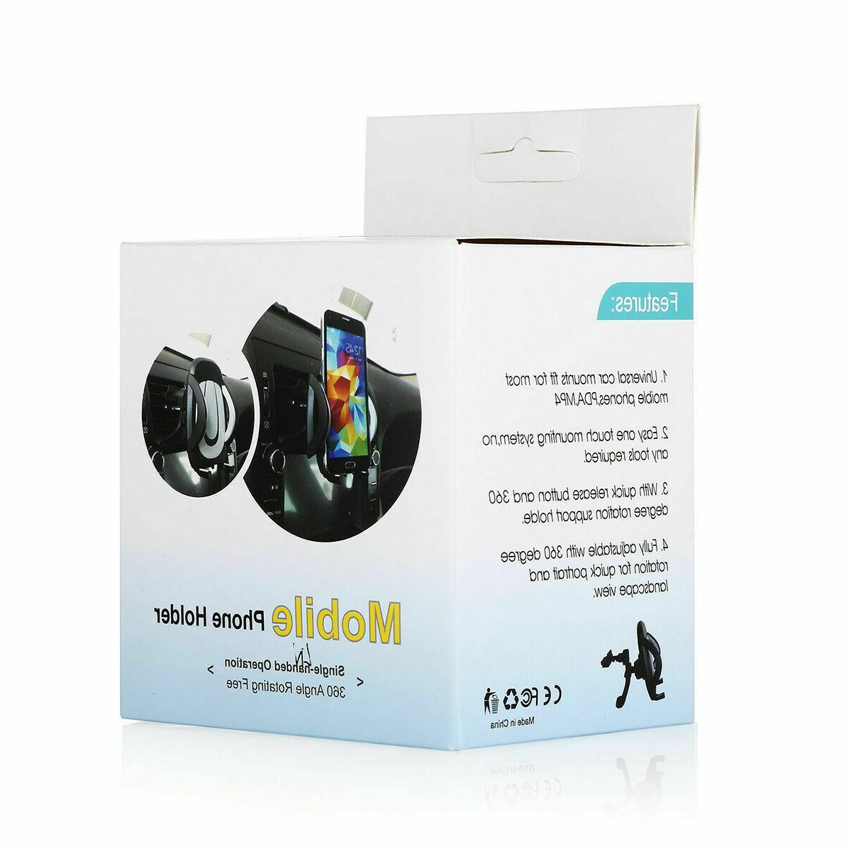360° Car Mount Stand Vent For iPhone Phone GPS