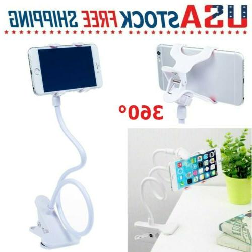 360 flexible lazy clip cell phone holder