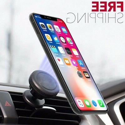 360° Magnetic Car Vent Dock Mount Cell Phone Holder Stand F