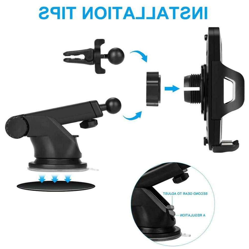 360° Car Windshield Stand For Cell Phone iPhone Samsung