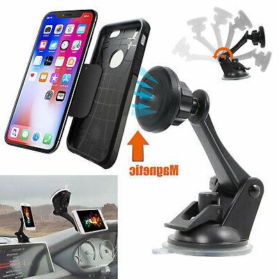 360o car windshield dashboard suction cup magnetic