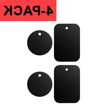 4 pack metal plates adhesive sticker replace