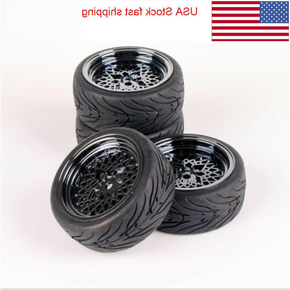 4pcs rubber tires mesh wheel for hpi