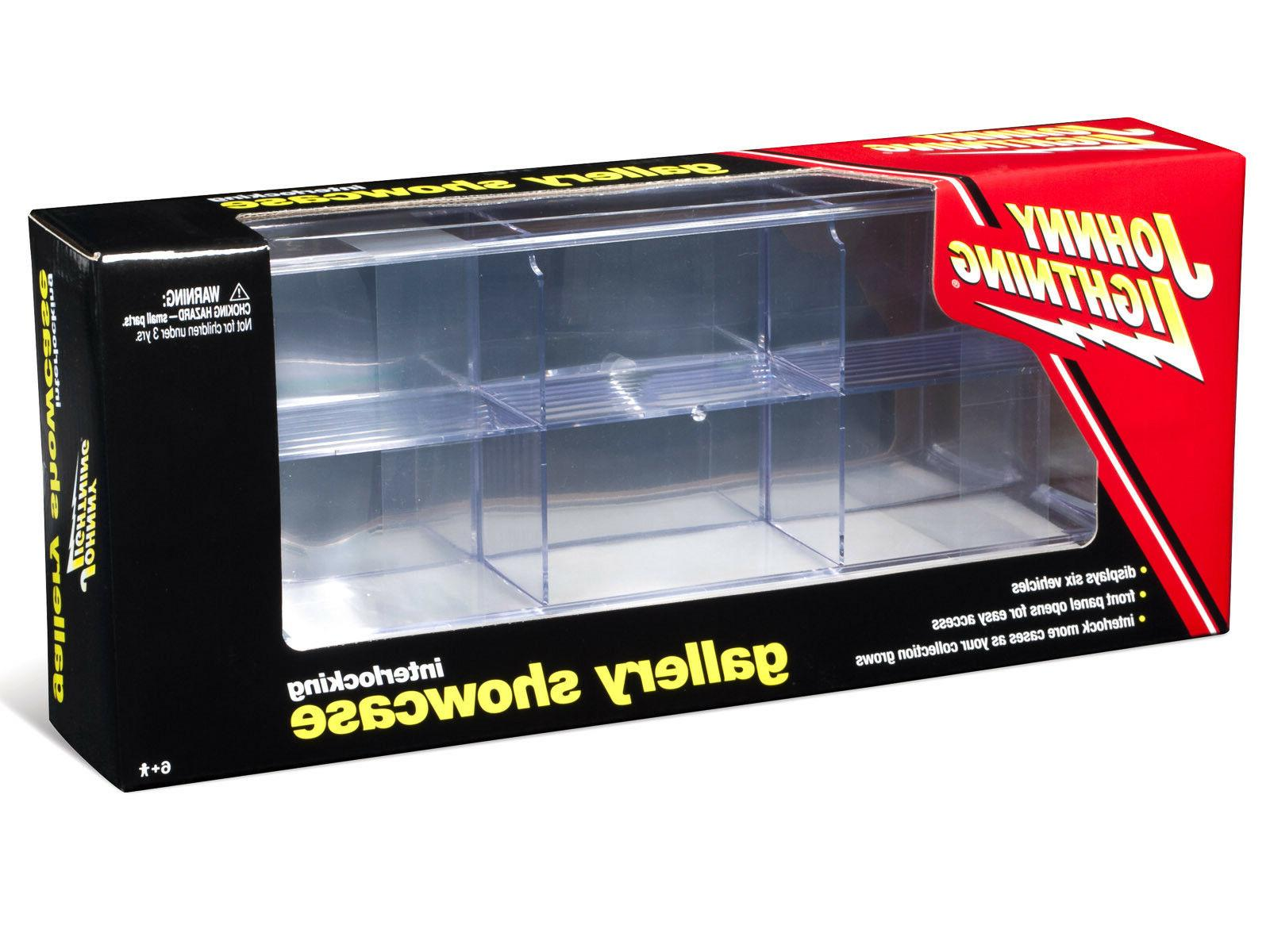 6 ACRYLIC DISPLAY SHOW CASE FOR 1/64 MODELS JOHNNY JLDC001