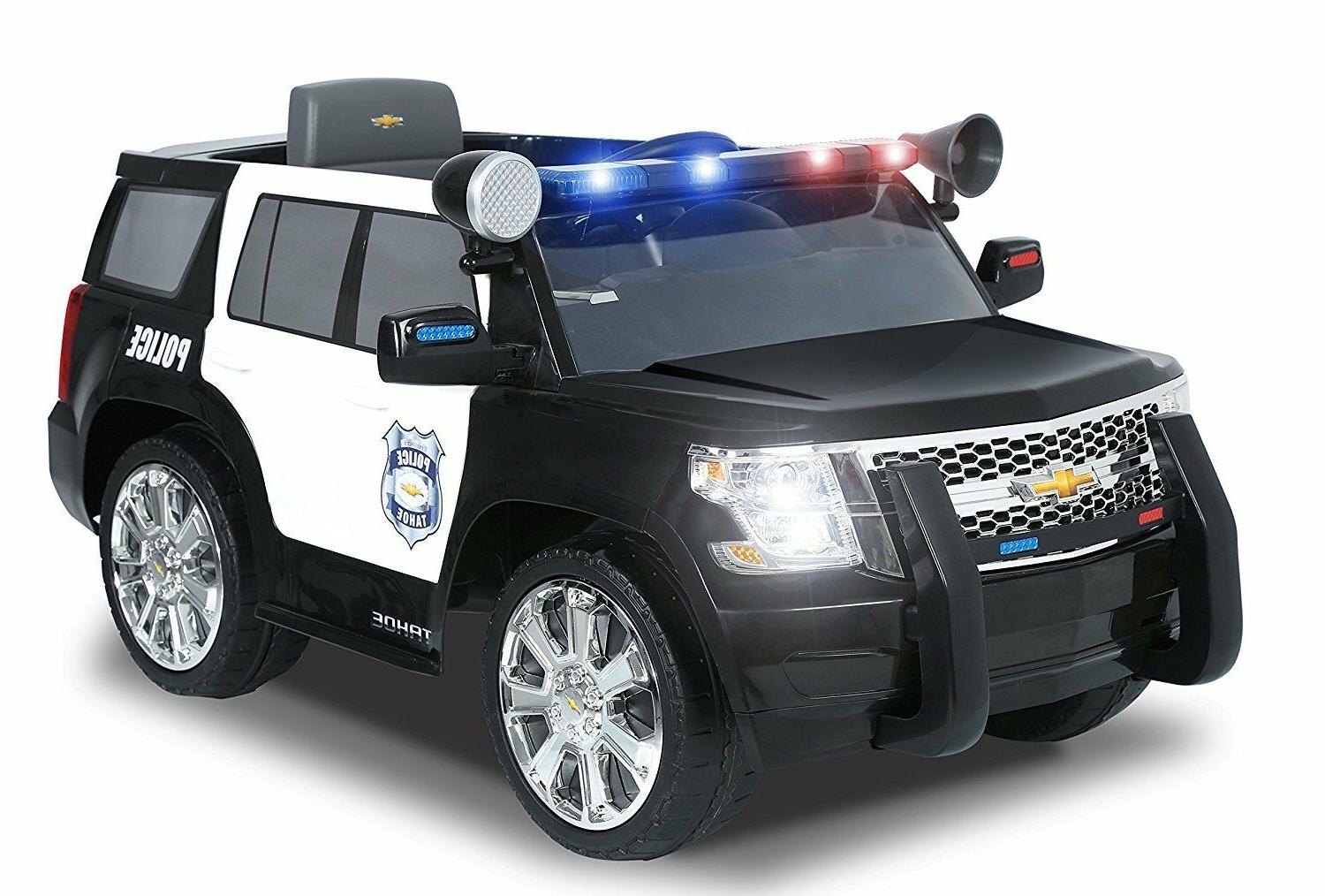 6V Chevy Ride-On Kids Police Car SUV Truck 2 Opening Doors S