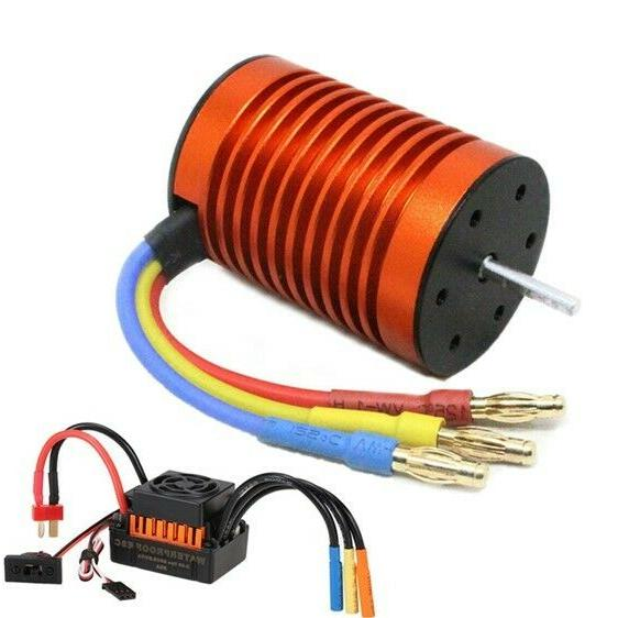 9T 4370KV Brushless Motor + 60A ESC Controller Combo Set for
