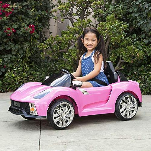 Best Choice Products Kids Powered Control Electric Car w/ LED MP3, - Pink