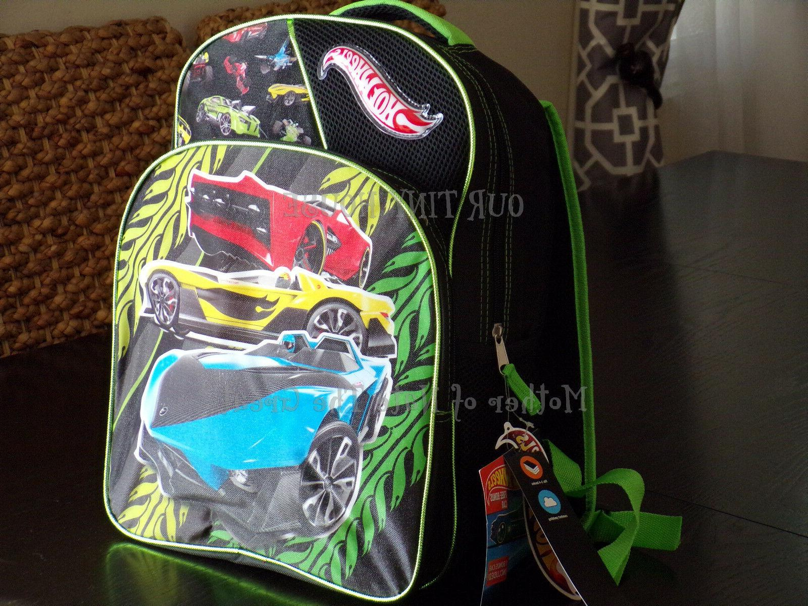 Mattel HOT Wheels 16 Inch Full Size Backpack for Kids ComeS