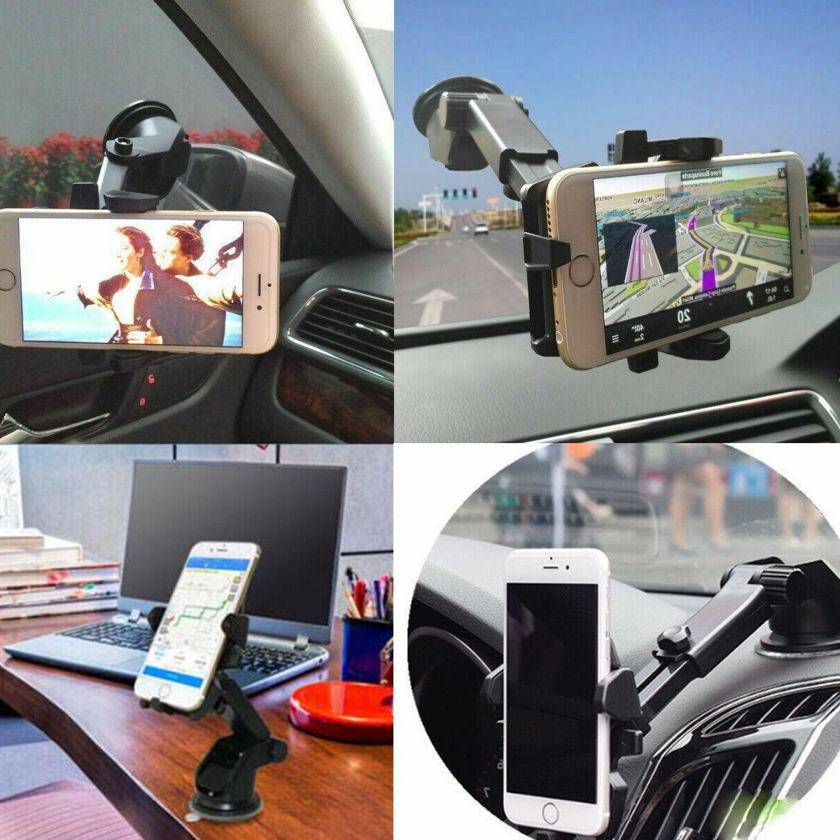 Universal Windshield Dash Suction Cup Mount Stand for GPS