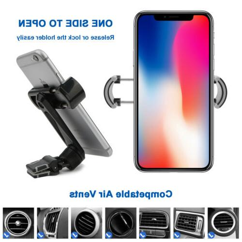 Air Phone Holder 360° Car Stand Mobile iPhone Samsung US