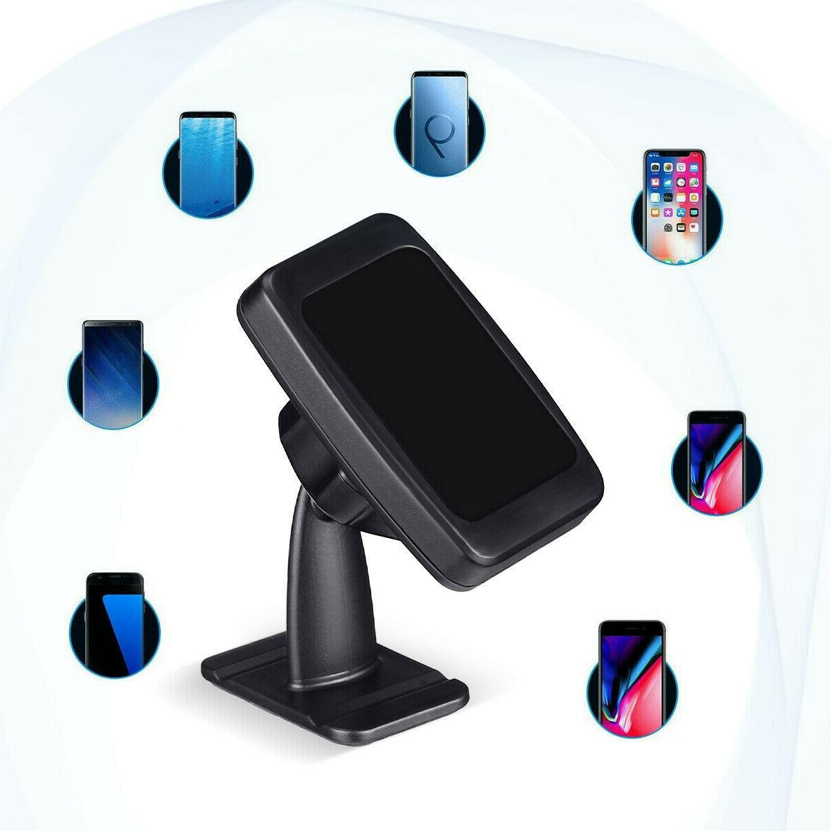 360° Magnetic Car Mount Cell Phone Stand Dashboard iPhone