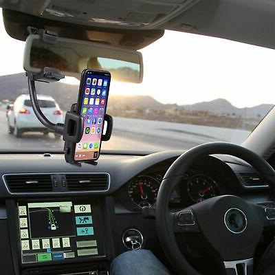 Auto Rearview Mirror Mount Cradle For Phone Universal