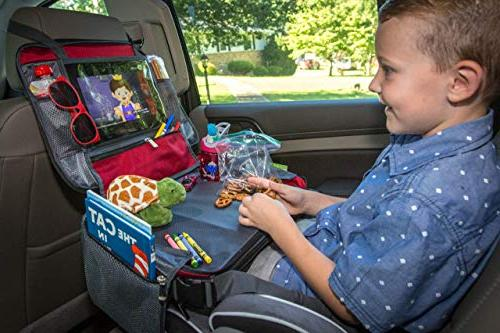 BE Kids Seat Lap Tray - Toddler Snack and Tray - - Car with Unique Need Side Pockets