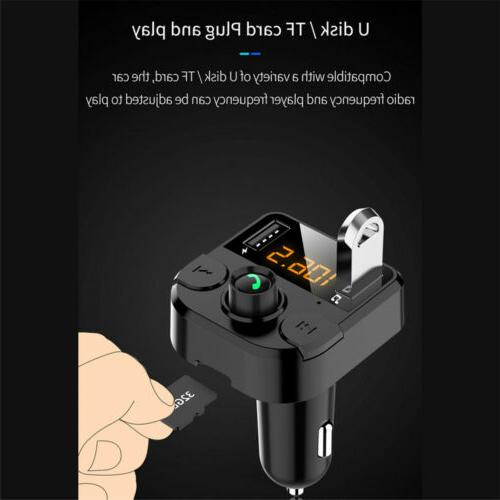 Bluetooth Transmitter MP3 Adapter Charger