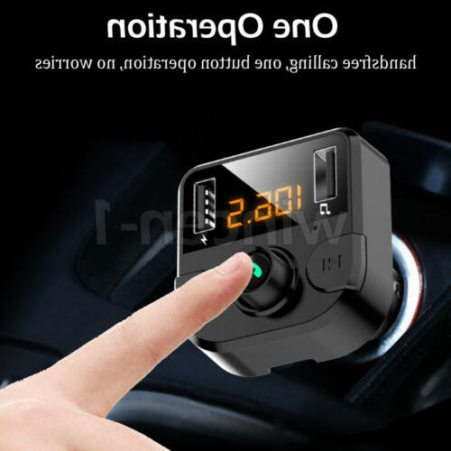 Bluetooth Car Transmitter MP3 Player Adapter 2 Charger