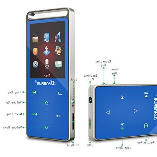 Bluetooth Player Radio/ E-book Dansrue, 1.8 Inch TFT Screen, 60 Hours Playback Up to 128GB,