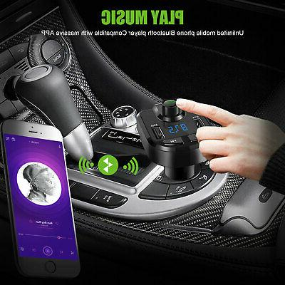 Bluetooth FM Transmitter MP3 Radio Kit Charger 3.6A