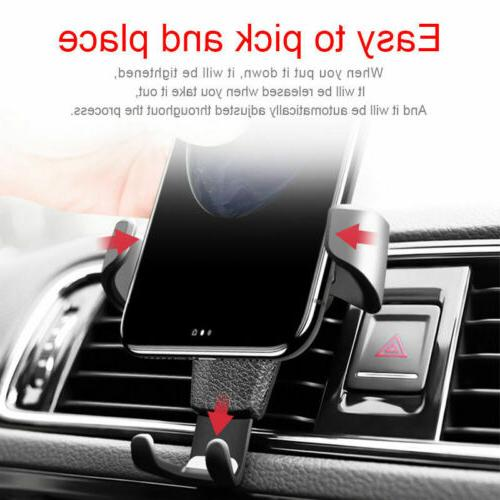 Car Air Vent Cradle Holder Stand iPhone Phone GPS Black
