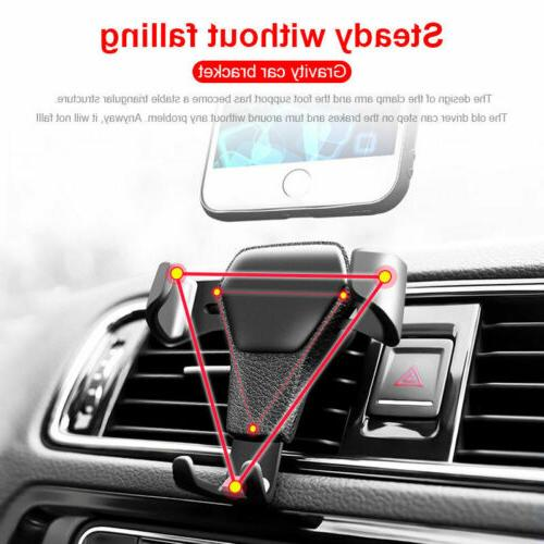Car Vent Cradle Stand iPhone Cell GPS Black