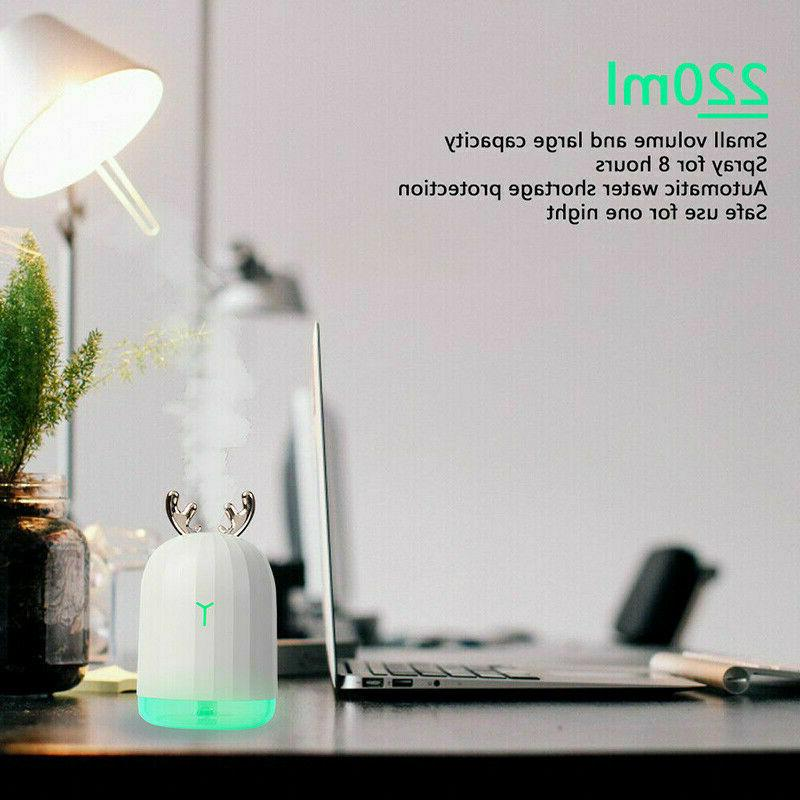 For LED USB Essential Oil Diffuser 220ML