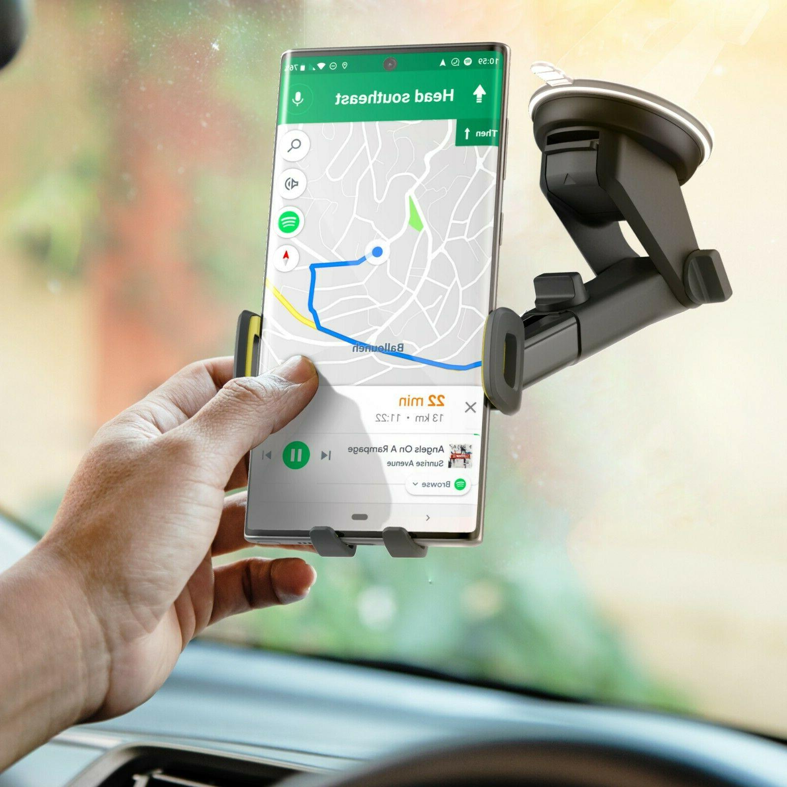 Car Phone Holder Dash/Window Mount for Galaxy S9/S10/S20 Plus/Note