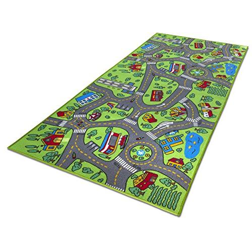 Kids Carpet Life Extra Large Learn & Have Safe, Activity Great For Cars For Playroom