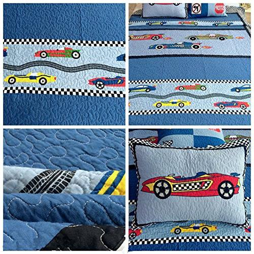 HNNSI Quilt Bedspread Twin Size, Sports Teens
