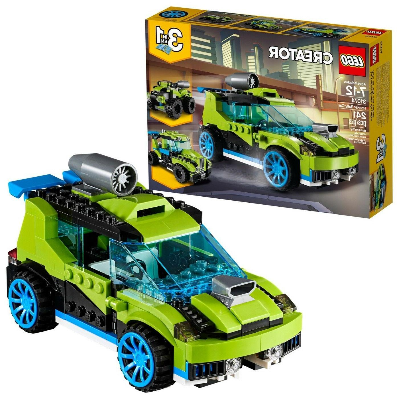 LEGO Creator Rocket Rally Car 31074 Toys for Kids 3 in 1 Bui