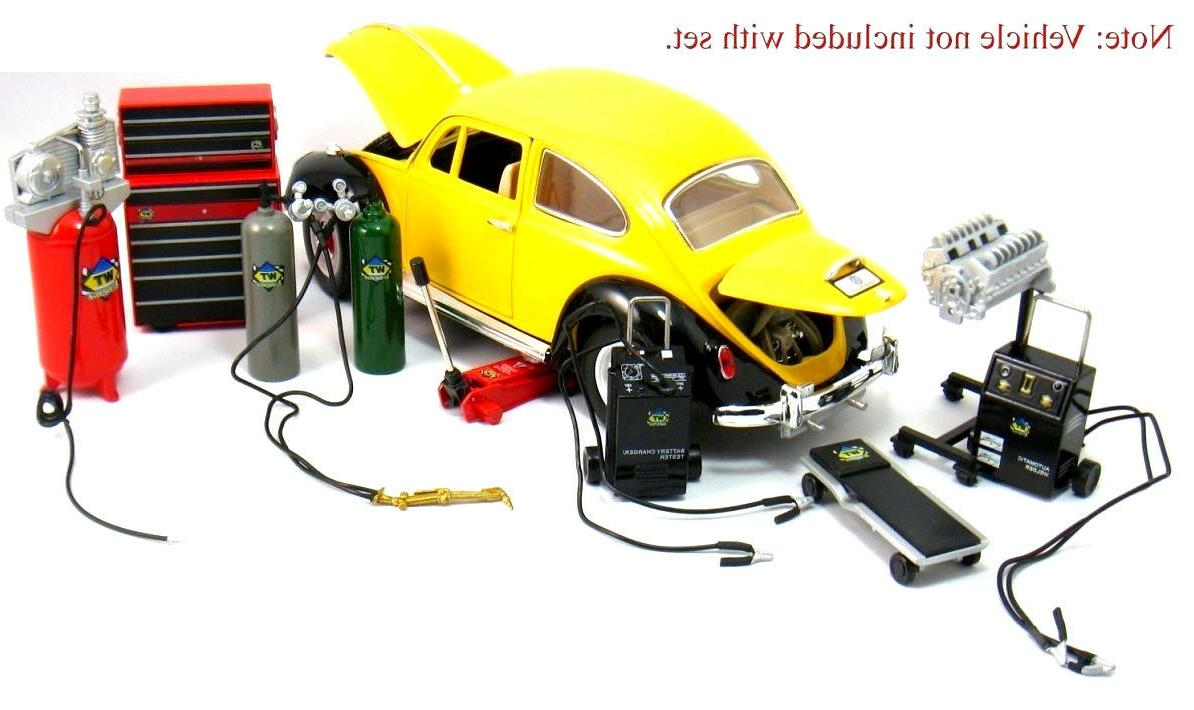 Die-cast Metal Car Garage Accessories for 1:18 SCALE AUTOART