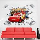 Disney 3D Cars McQueen Mater removable Wall Stickers Decal K