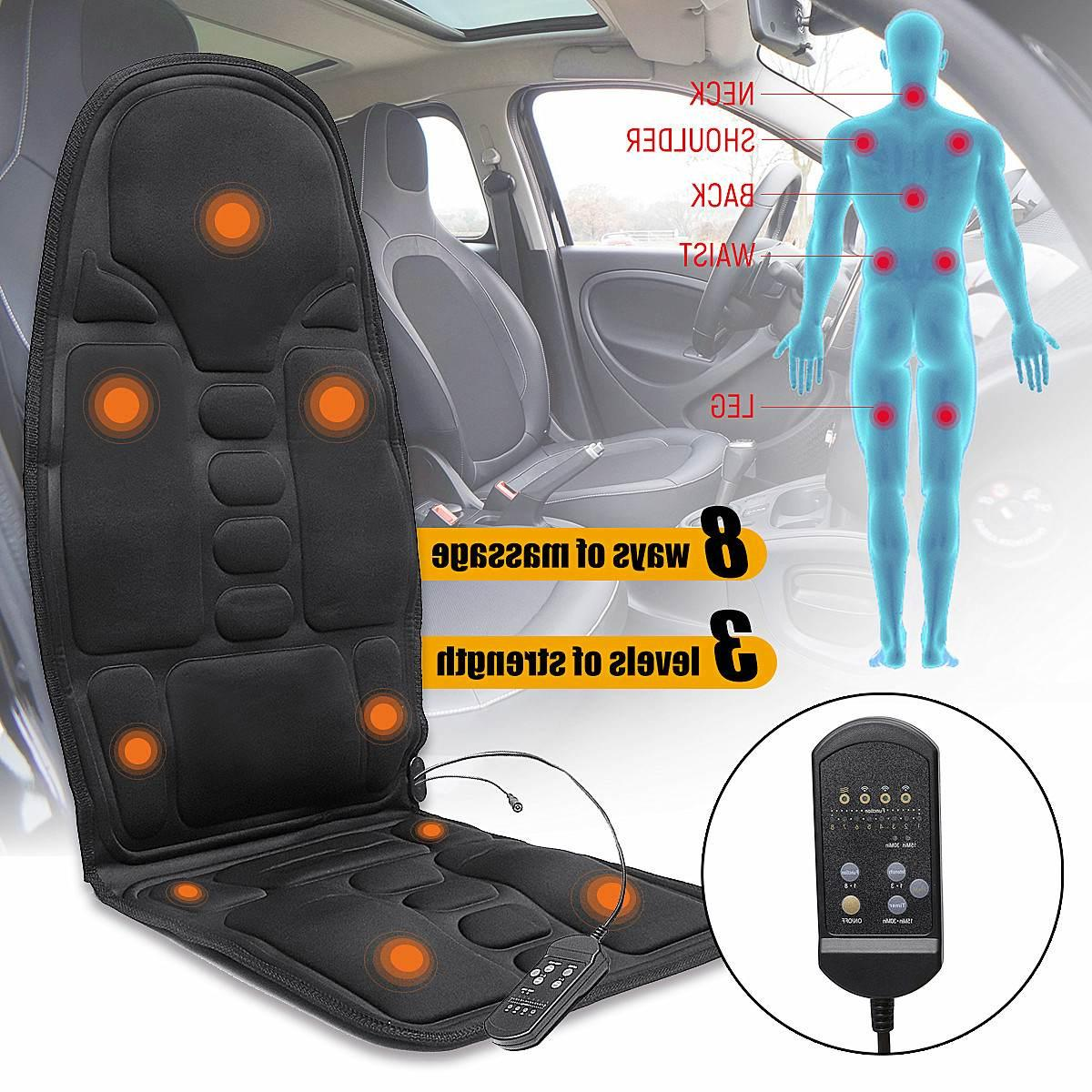 Electric Mulifunction Heated Massage <font><b>Car</b></font> Home Office Cushion <font><b>Car</b></font> <font><b>Chair</b></font> Lumbar Back Neck