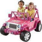 Power Wheels For Girls Jeep Kids Motorized Vehicles Barbie C