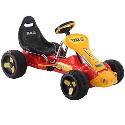 Costzon Go Kart 4 Wheel Kids Ride on Car Pedal Powered Ride