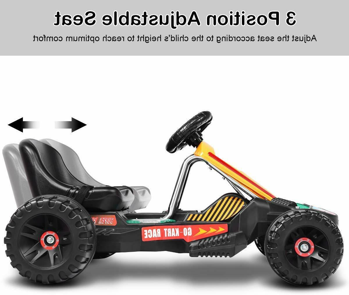 Go Kart Ride Pedal Powered Ride for Boys ADJUSTABLE